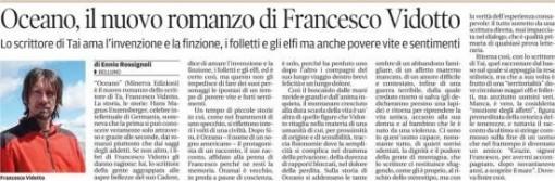Corriere delle Alpi - luglio 2014 - Oceano