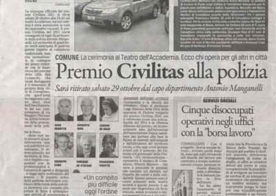 il gazzettino - ottobre 2011 - premio Civilitas